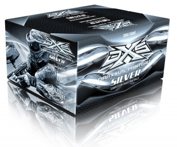 DXS Silver Paintballs - 2000 Rounds
