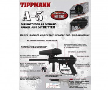 Tippmann New A-5 v2 Paintball Gun