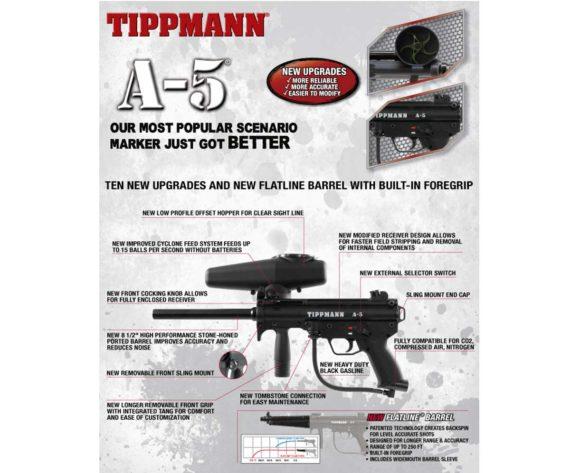 Tippmann New A-5 v2 Paintball Gun