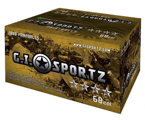 GI Milsim 4 Star Paintballs 2000 Rounds - Orange Fill