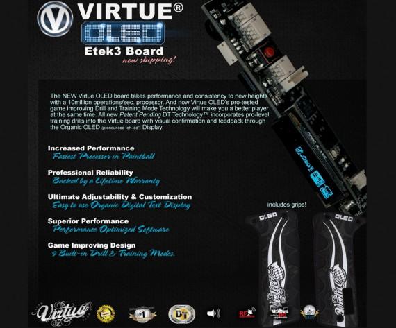 Virtue OLED Etek3 Board for Paintball Marker