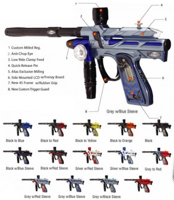 Bob Long Gen 3 Alias Intimidator Paintball Gun