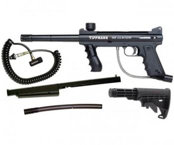 Tippmann 98 Custom ACT Sniper Paintball Gun Package
