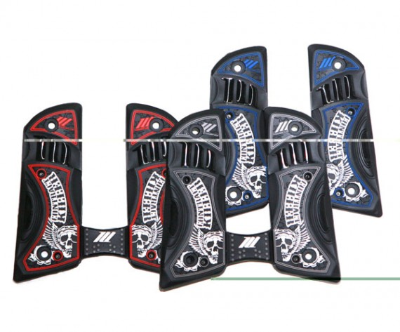 Hybrid Skidhead Skull and Wings 45 Style Grips