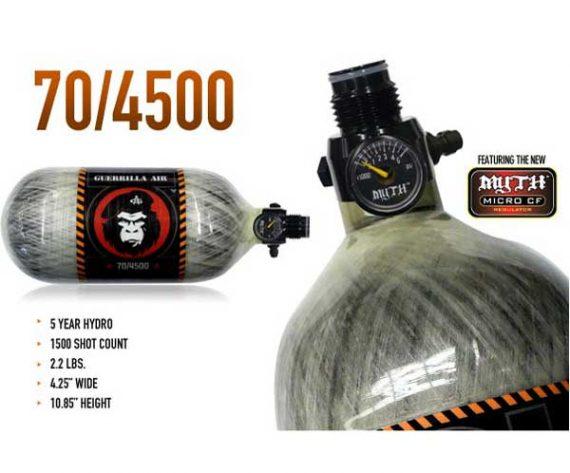 Guerrilla Air Carbon Fiber Compressed Air Tank 48ci /68ci / 70ci