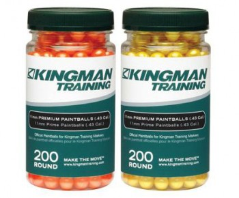 Kingman Training 11mm Premium Paintballs - 200ct