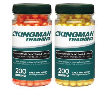 Kingman Training 11mm Premium Paintballs - 200ct
