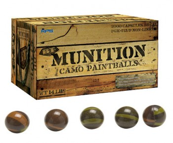 RPS-BT Munitions Camo Paintballs
