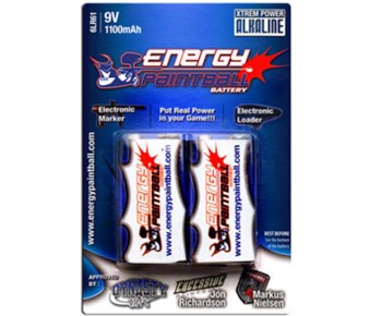 Energy Paintball 9V Alkaline Paintball Battery 2 Pack